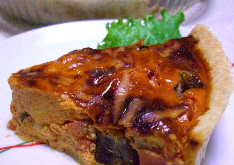 Step-by-Step Guide to Make Super Quick Homemade Tomato Cream Quiche with Eggplants and Tomatoes