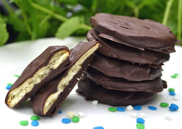 Recipe of Award-winning Copycat Thin Mint Cookies - Crazy Easy!