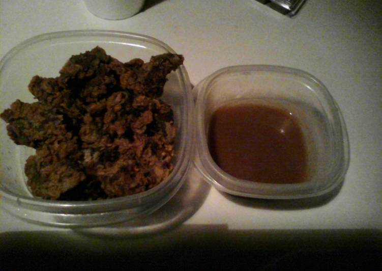 Best Ever Brown Gravy (shown with fried livers)