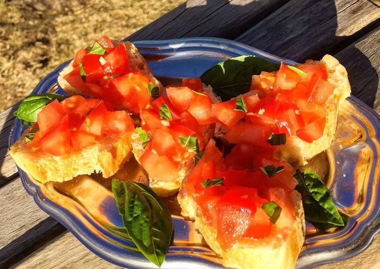 Recipe: Delicious Bruschetta de tomates 🍅🍅