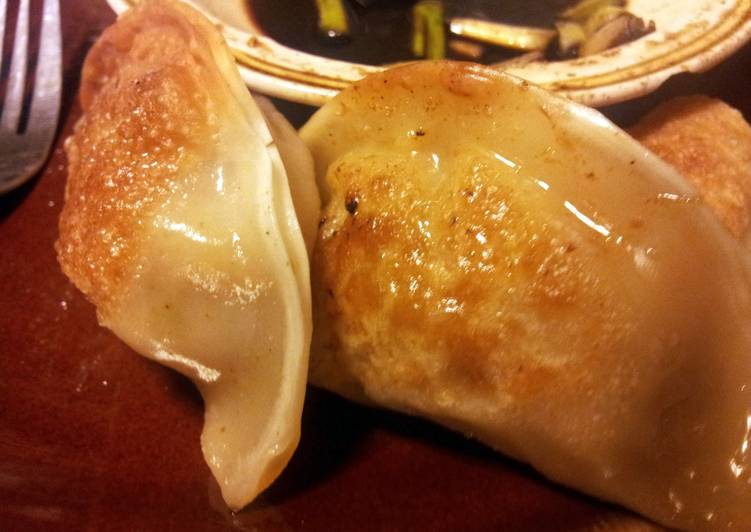 Recipe: Delicious Chicken/ Shrimp Pot Stickers and Ginger Dipping Sauce