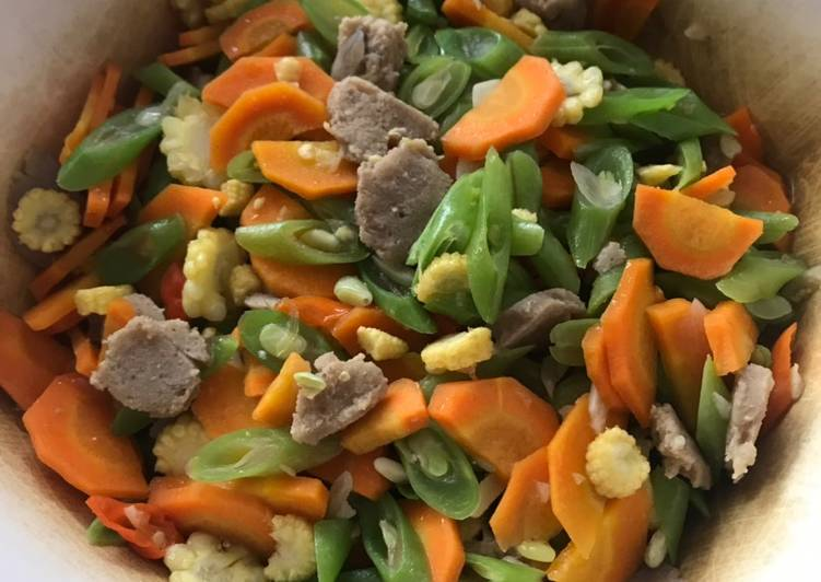 Resep Tumis buncis, wortel, jagung muda Yang Umum Pasti Sedap