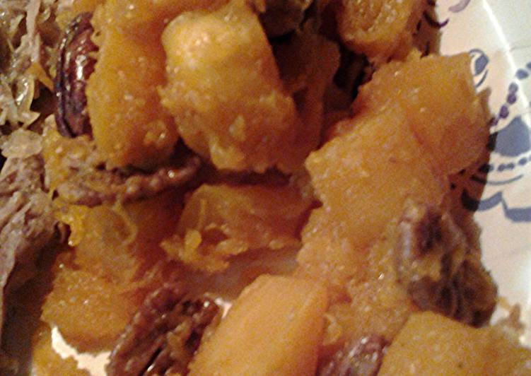 Recipe of Super Quick Homemade Butternut squash, pecan sauté