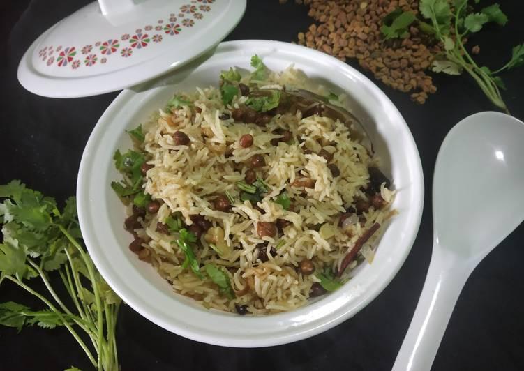 Old Fashioned Dinner Easy Vegan Kala chana pulao
