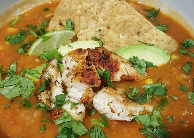 Simple Way to Make Homemade Chicken Tortilla Soup