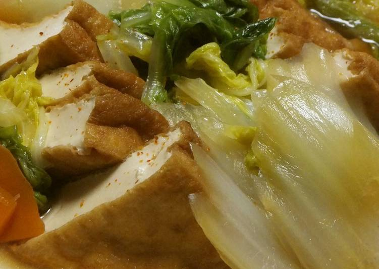 Recipe of Ultimate Simmered Chinese Cabbage & Atsuage