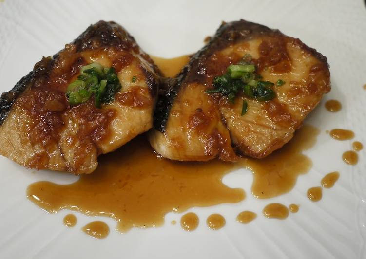Steps to Prepare Favorite Amberjack Teriyaki with a Tart Umeboshi Seasoning
