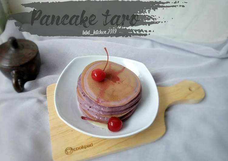 Fluffy taro pancake*no bp*