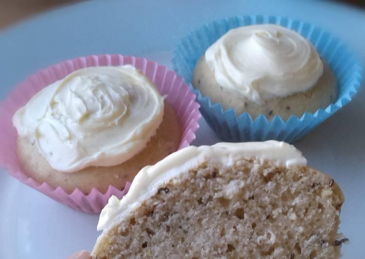 Vickys Lemon & Chia Seed Cupcakes, GF DF EF SF NF