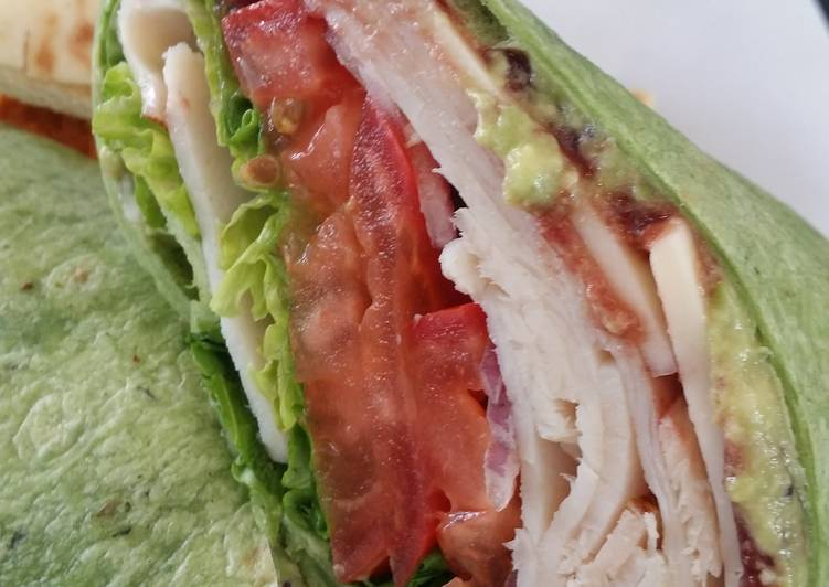 Easiest Way to Cook Appetizing Leftover roasted turkey sandwich wrap