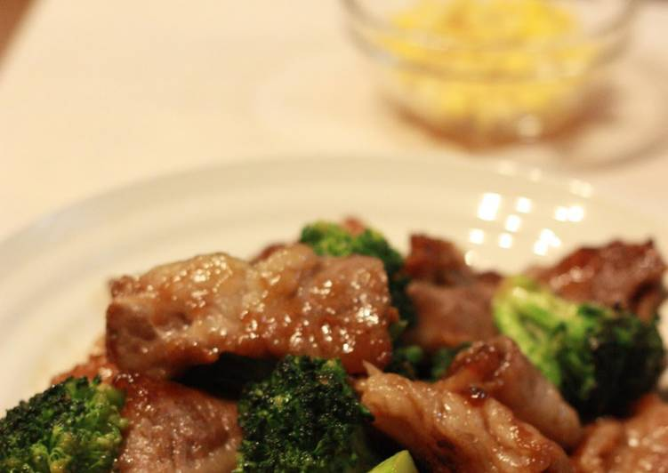Beef and Broccoli with Oyster Sauce