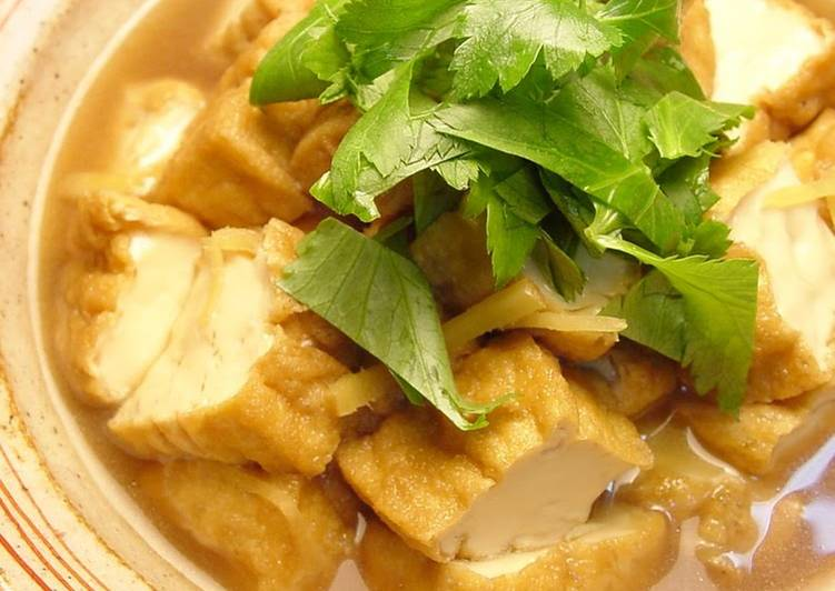 Step-by-Step Guide to Make Speedy Simmered Atsuage with Sweet & Salty Ginger