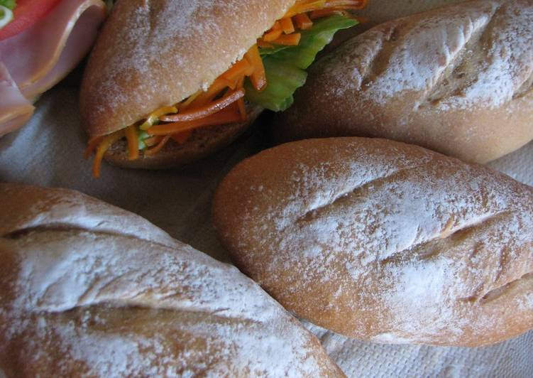 Simple Way to Make Speedy 43% Whole Wheat Bread Rolls