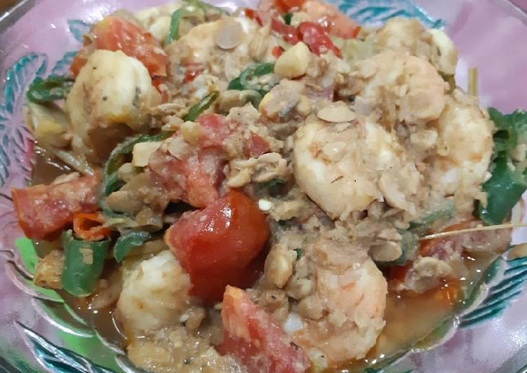 Udang masak sambel tauco