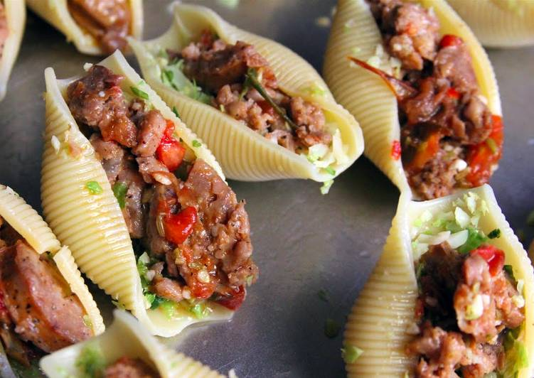 Recipe of Favorite Italian sausage stuffed pasta