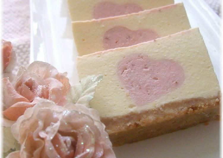 Steps to Make Ultimate Strawberry Heart No-Bake Cheesecake