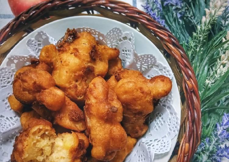 Apple Fritters (Cucur Epal) - resepipouler.com