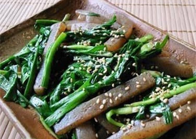 Stir-Fried Garlic Chives & Konnyaku for Dieters