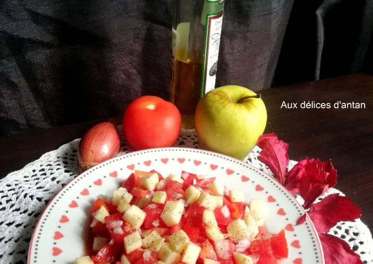 Comment Préparer Les Tartare de tomate, pomme et huile de truffe