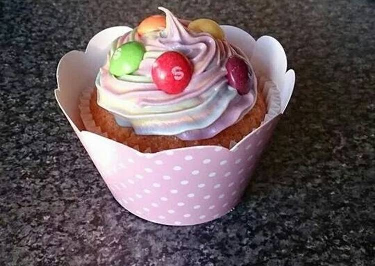 Recipe of Ultimate SKITTLES CUPCAKES