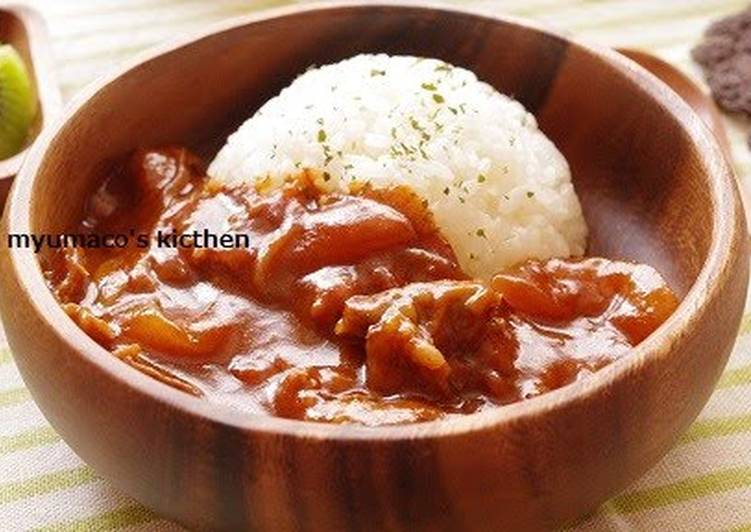 Steps to Make Award-winning Our Family Recipe for Hayashi Rice (Hashed Beef Stew with Rice)