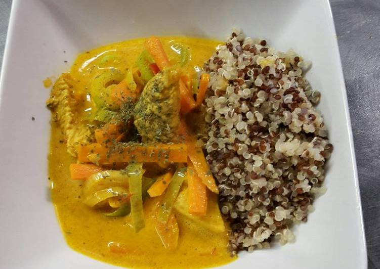 How to Make Any-night-of-the-week Chicken curry with quinoa (gluten free)