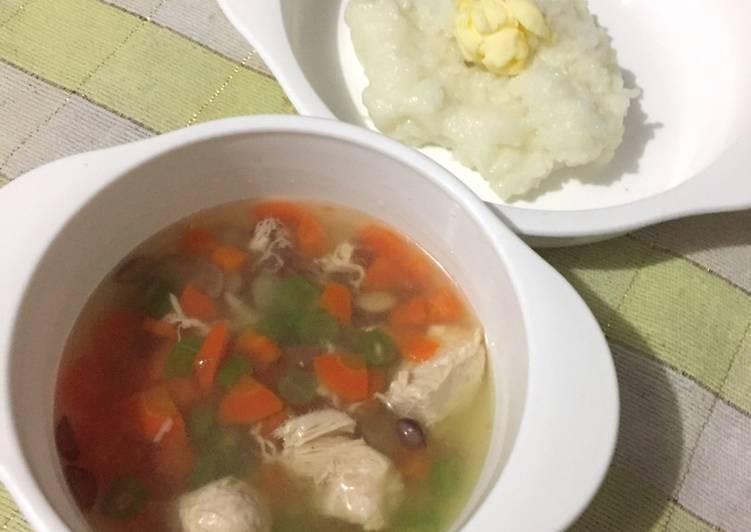 Soup Kaldu Ayam 4* (MPASI 7+ Bulan)