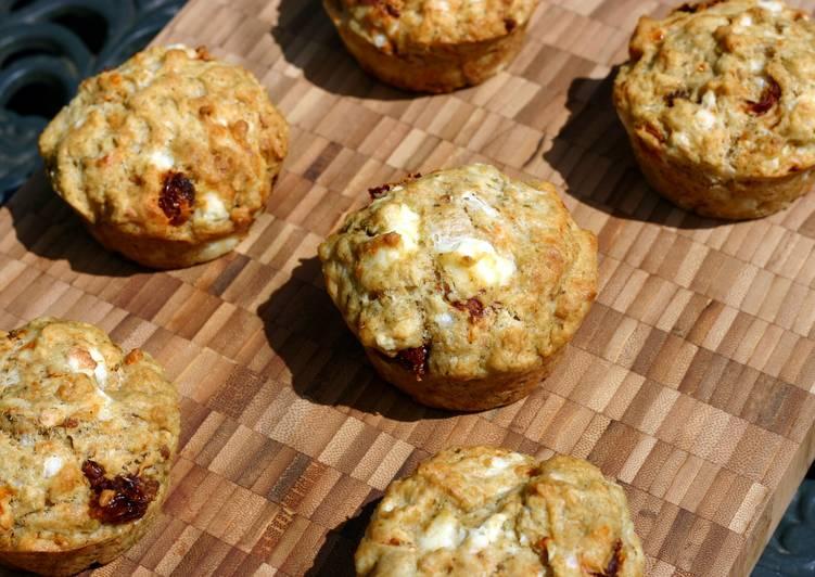 Sophie's feta, sundried tomato and pesto muffins
