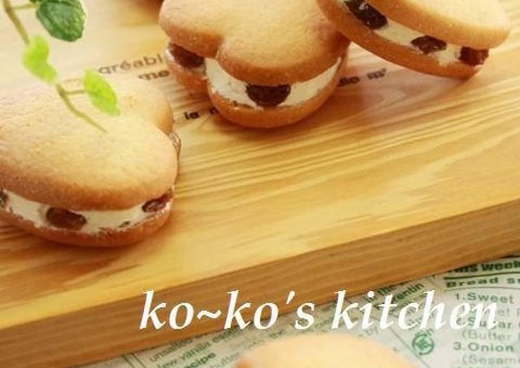 Sandwich Cookies With Rum Raisin Buttercream Filling