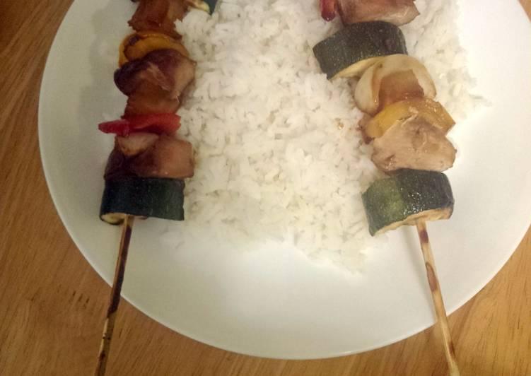 Easiest Way to Prepare Appetizing pineapple teriyaki chicken shish kabobs