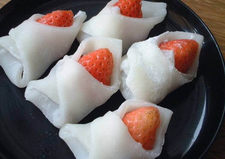 What is Dinner Easy Any Night Of The Week Wrapped Ichigo Daifuku (Strawberry Dumplings) For Girls' Day Festival