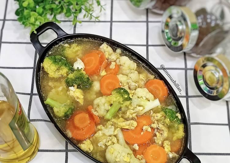 Sup Sayur Telur Orak-arik, Simpel dan Sehat