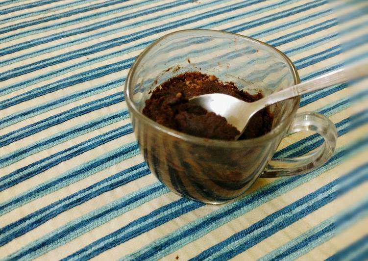 Eggless Chocolate & PB Mug Cake Recipe by HojoMojo - Cookpad
