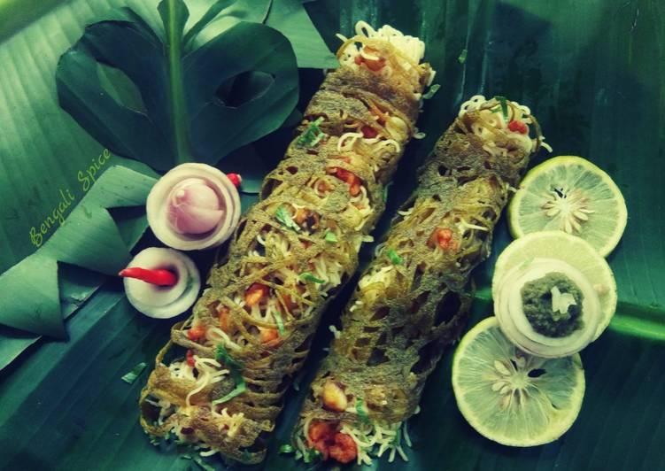 Recipe: Tasty Maggi Spicy Net-Roll ♥