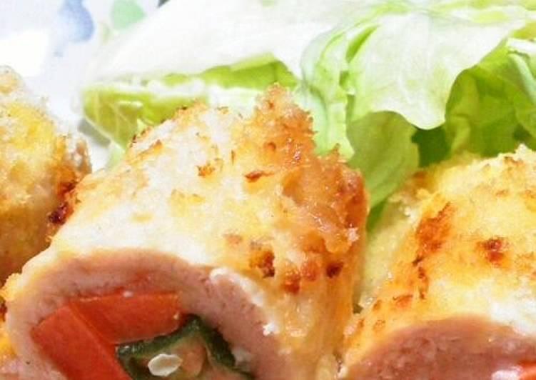 Recipe of Award-winning Healthy Okra & Carrot Fried Chicken Tender Cutlets
