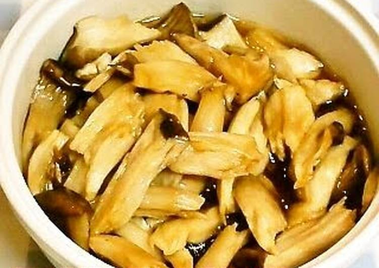 10 Minute Simple Way to Prepare Refreshing Simmered King Oyster Mushrooms for Bento