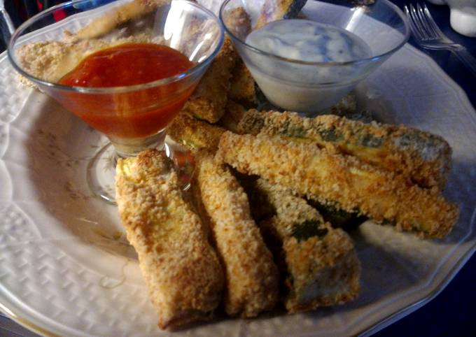 oven baked zucchini sticks