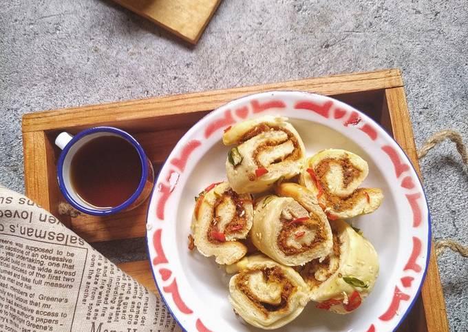Floss Roll Bread (Eggless)