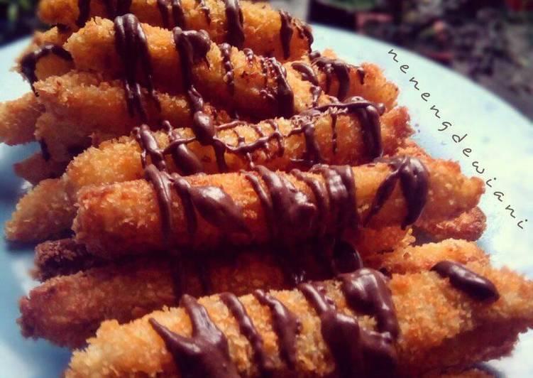 Pisang stick coklat