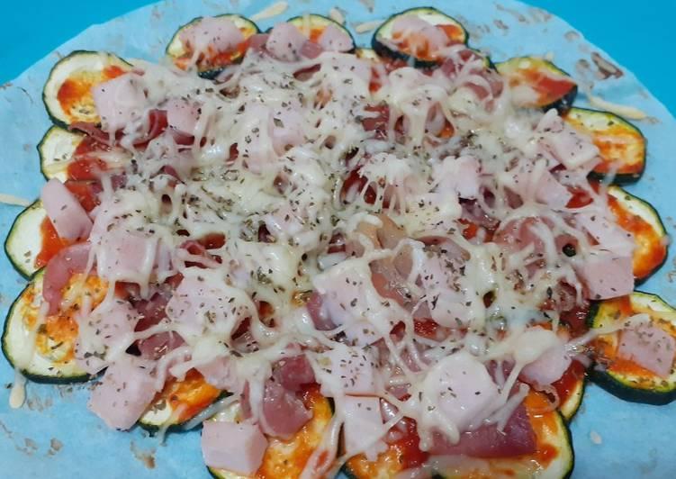 Pizza con base de calabacín