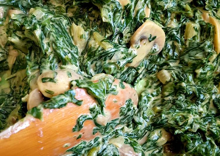 Creamy spinach and mushroom