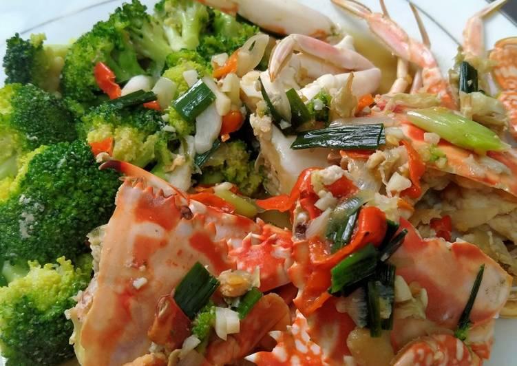 Brokoli Kepiting RiceCooker