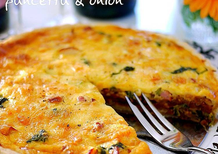 Recipe of Homemade Sublime Pancetta and Caramelized Onion Quiche