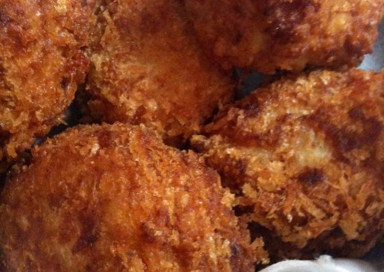 Recipe of Perfect Creamy and Starchy Taro Root Croquettes with Ham and Cheese