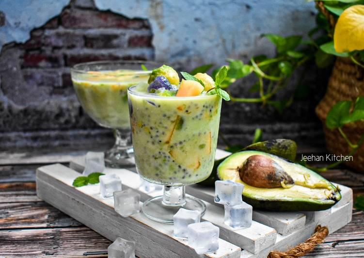 Air buah Campur Avocado - resepipouler.com