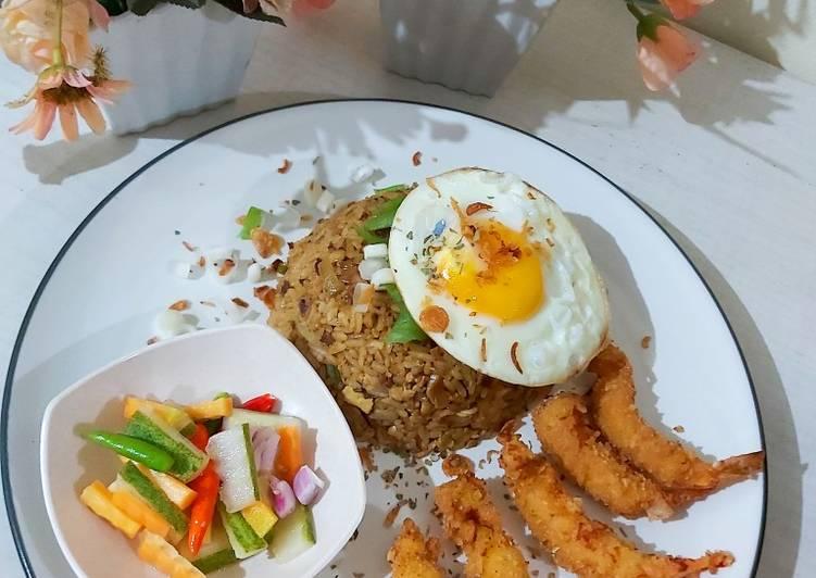 Resep Nasi goreng jepang Ebi Furai Paling Enak