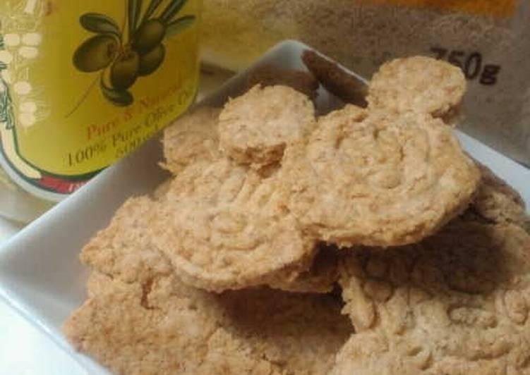 Crispy Olive Oil Coconut Cookies