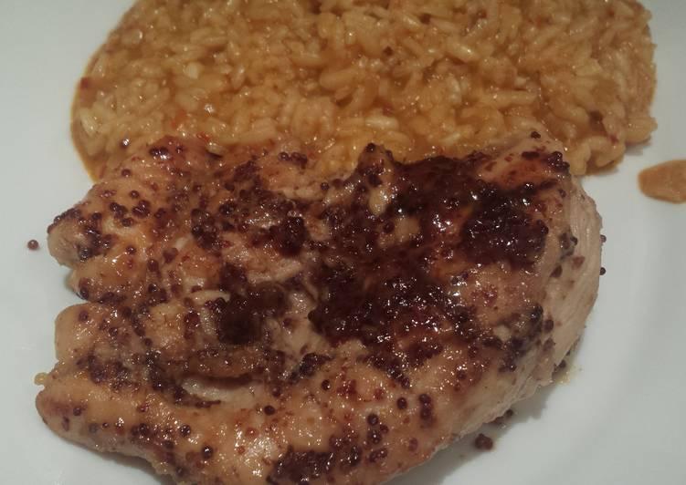 Recipe of Favorite Lemon and wholegrain mustard chicken