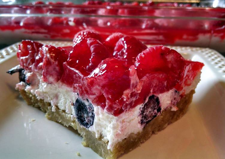 Red, White and Blueberry Squares