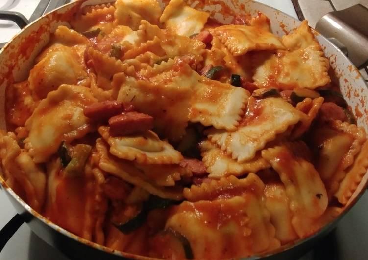 Recipe: Tasty Raviolis and Polska Kielbasa